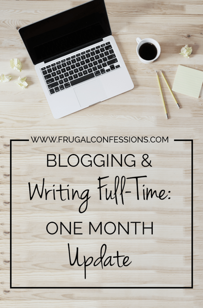 What is a weekend? For someone who has never worked before, or who works for themselves, it is simply two more days of the same thing. | http://www.frugalconfessions.com/writing-full-time/blogging-and-writing-full-time-one-month-update.php